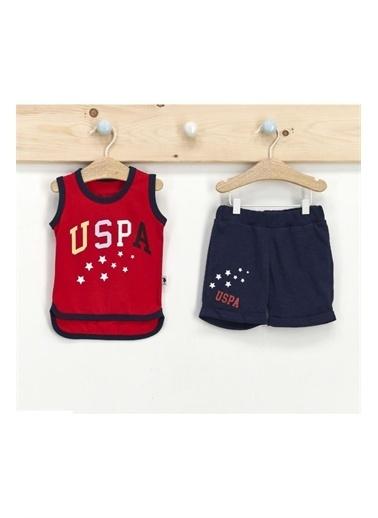 U.S. Polo Assn. Lisanslı Kırmızı Erkek Bebek Atlet Takım Kırmızı